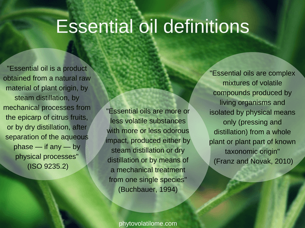 essential oil definitions