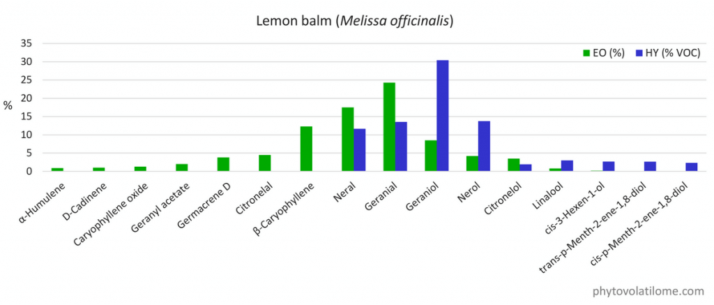 hydrolat hydrosol composition lemon balm melissa GC-MS